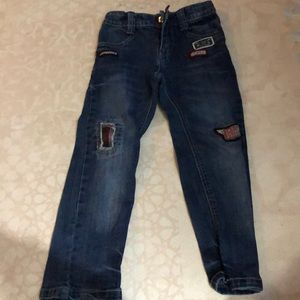 Boys patch work jeans